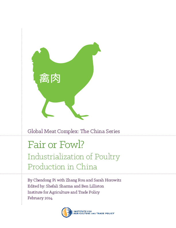 Fair Or Fowl Industrialization Of Poultry Production In China Iatp