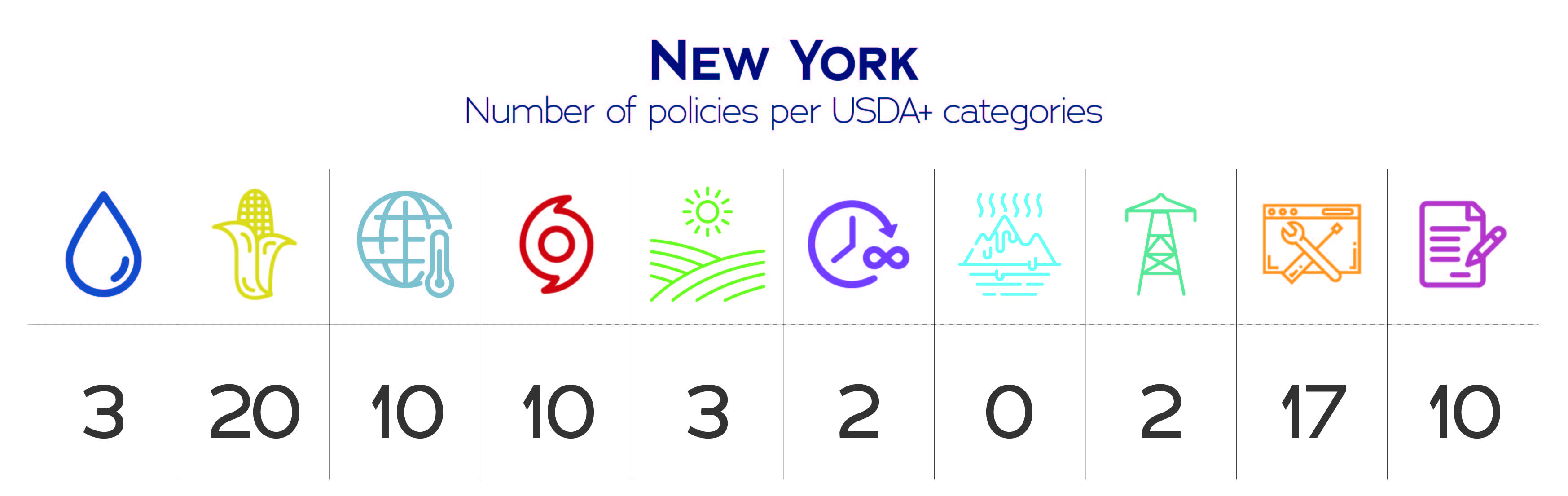 New York USDA+ category data