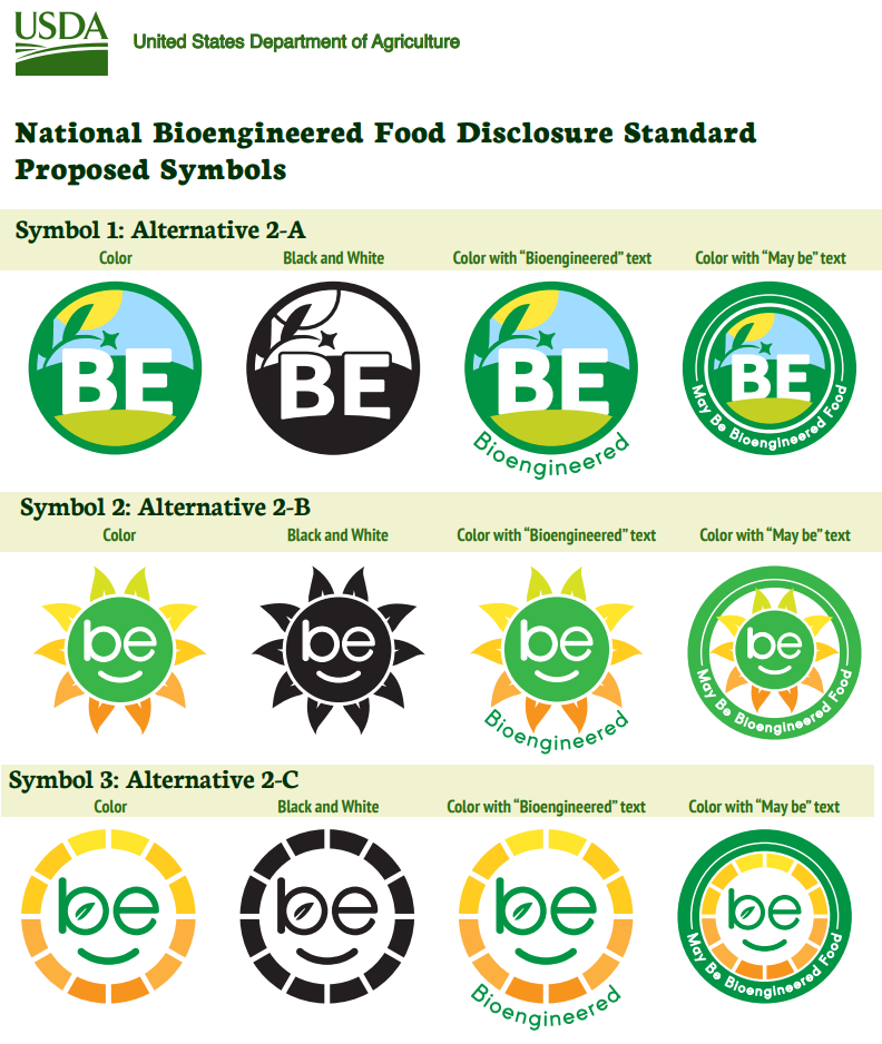 USDA Proposed Logos