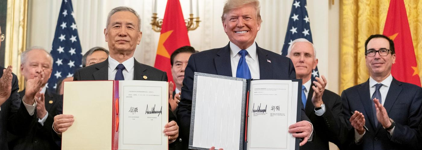 US China Trade Deal Phase One