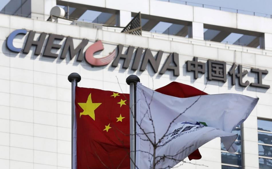 chem china office with chinese flag