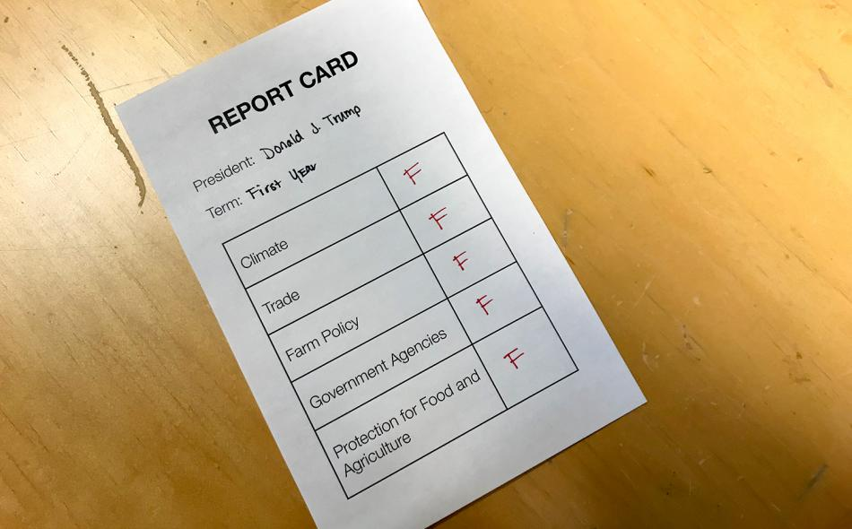 Trump report card