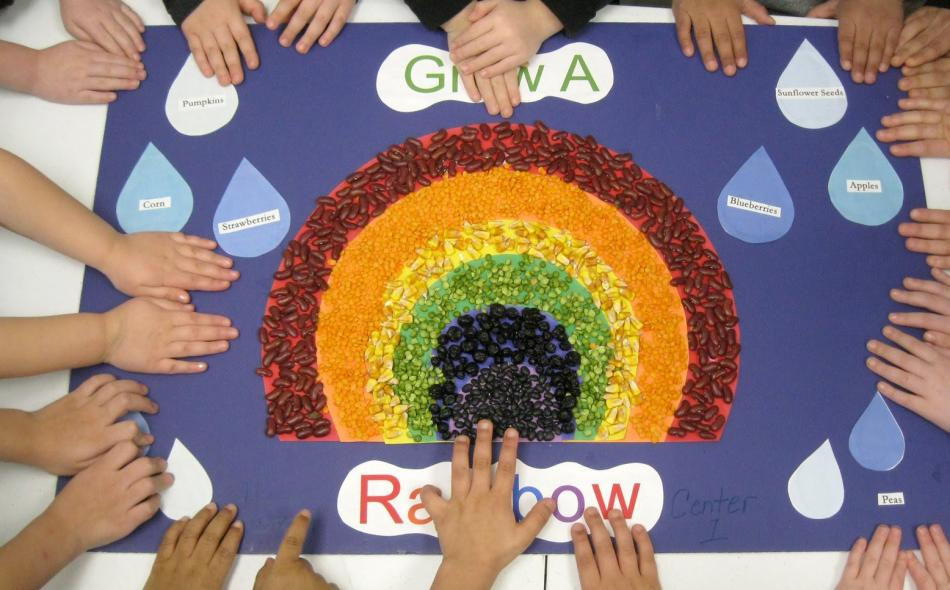 Tri-County Head Start rainbow activity