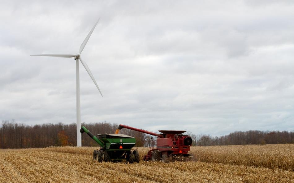 farm prairie windmill wind harvest