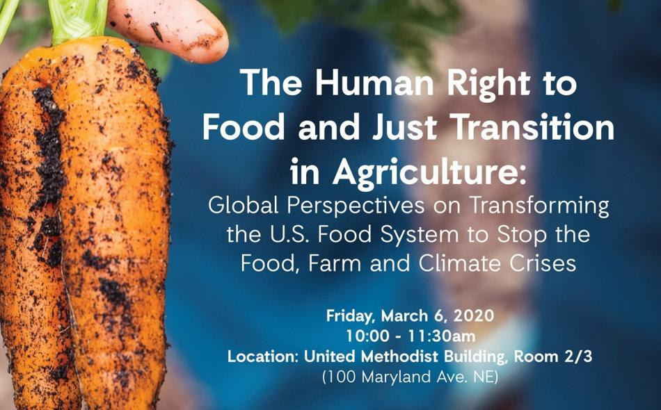 right to food and just transition event