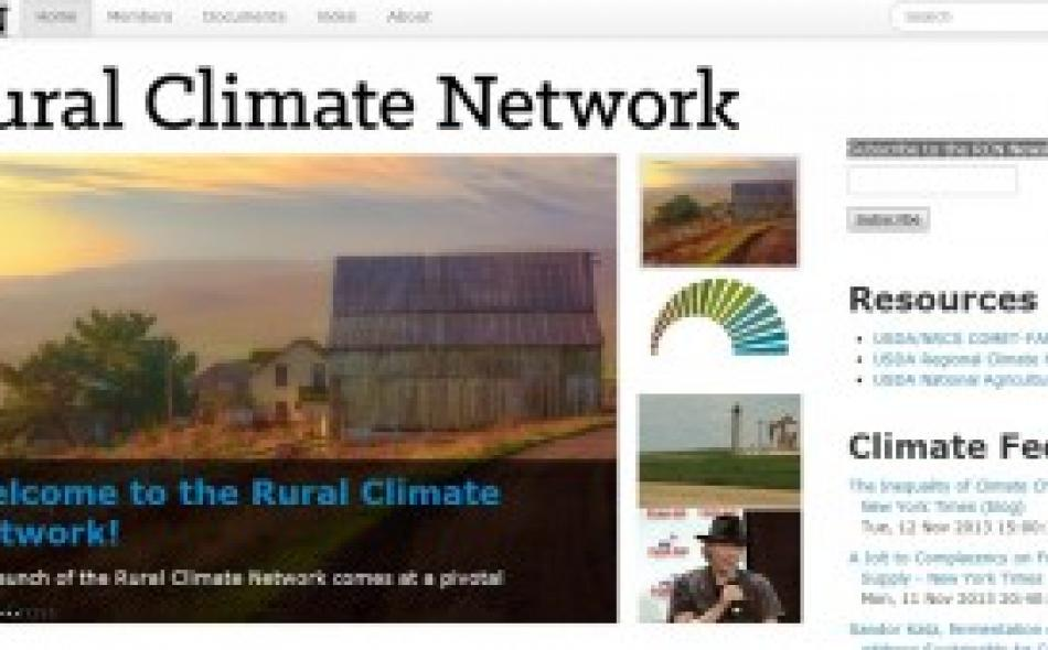 A rural response to climate change: Introducing the Rural Climate Network