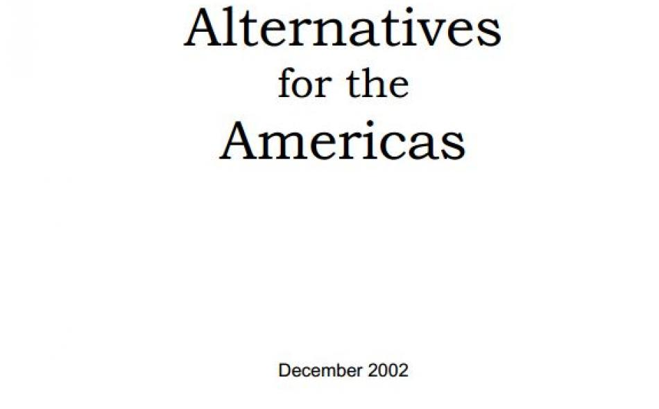 Alternatives  for the  Americas