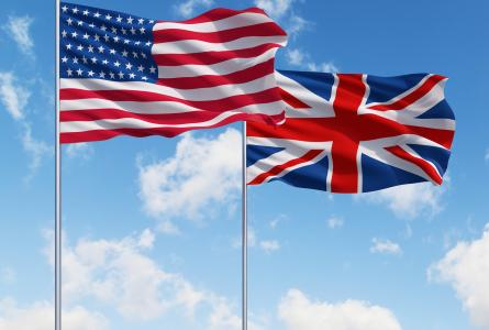 United States-United Kingdom flags