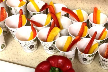 Peppers in a cup from Tri-Valley Head Start