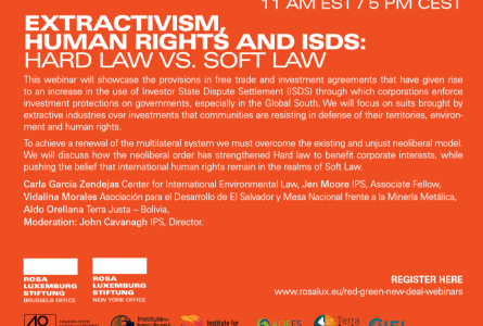 Extractivism, human rights and ISDS