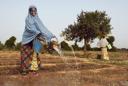 Woman farmer in Niger