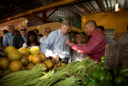 Vilsack and farmers